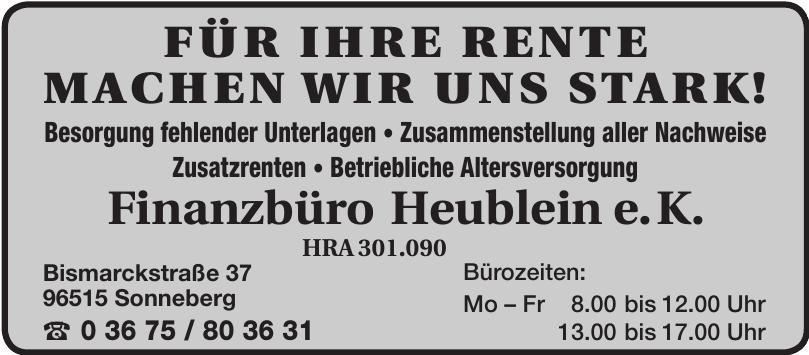 Finanzbüro Heublein e.K.