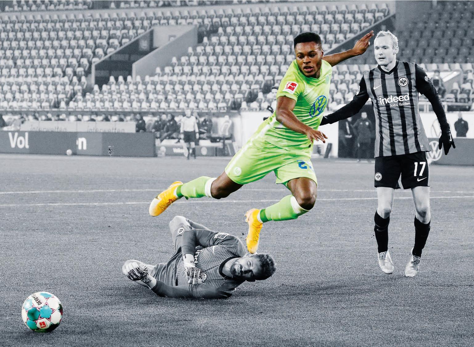 Ein Neuzugang, der einschlug: Ridle Baku wurde schnell zu einer festen Größe im Spiel des VfL Wolfsburg – und zum A-Nationalspieler.