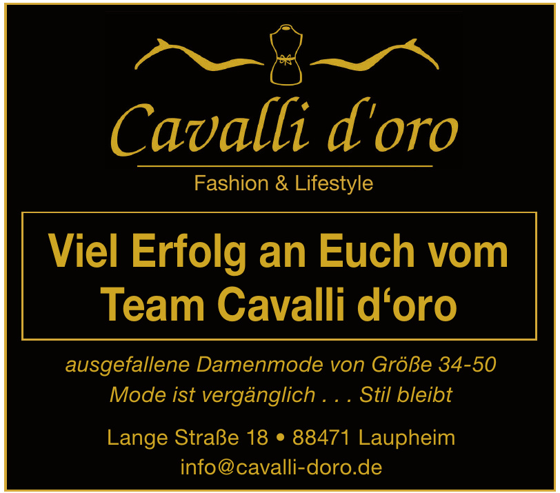 Cavalli d´oro Fashion und Lifestyle