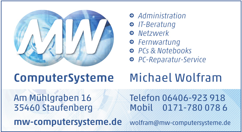 ComputerSysteme Michael Wolfram
