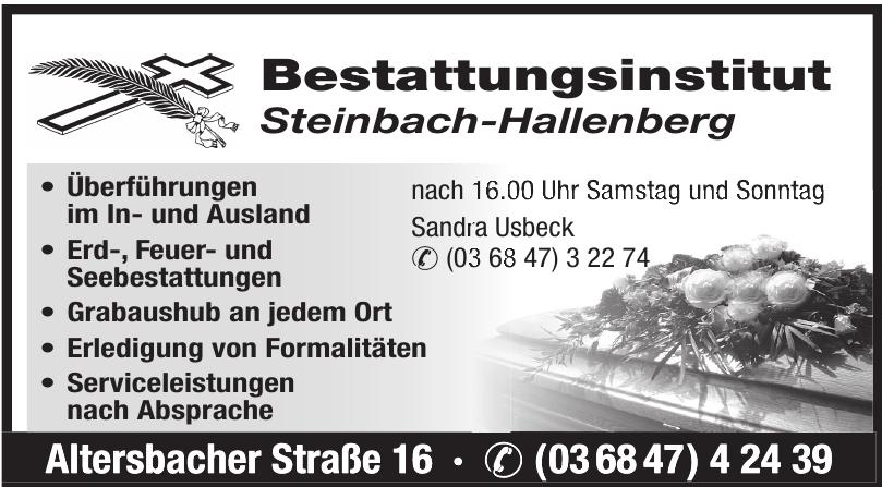 Bestattungsinstitut Steinbach-Hallenberg