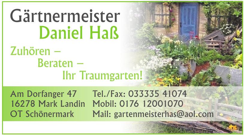 Gärtnermeister Daniel Haß