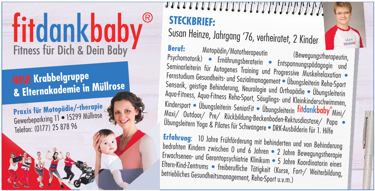 fitdankbaby Praxis für Motopädie/-therapie