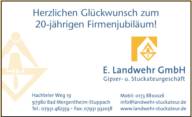 E.Landwehr GmbH Gipser- u. Stuckateurgeschäft