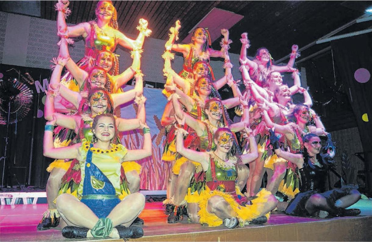 Die jungen Damen der prämierten Tanzgruppen der Narrhalla Boll werden dem Publikum wieder eine tolle Bühnenshow bieten.