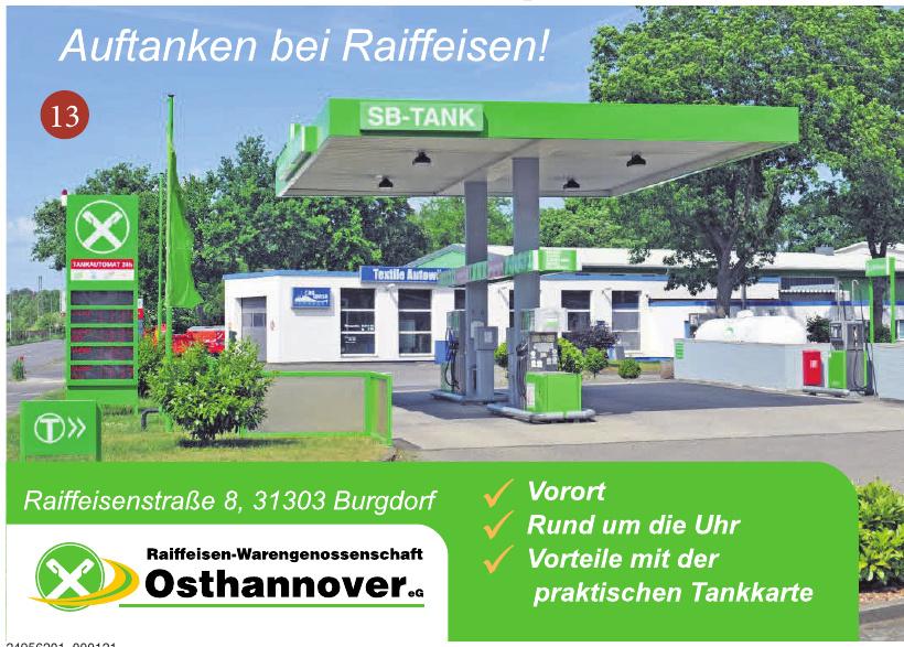 Sb-Tank - Raiffeisen-Warengenossenschaft Osthannover eG
