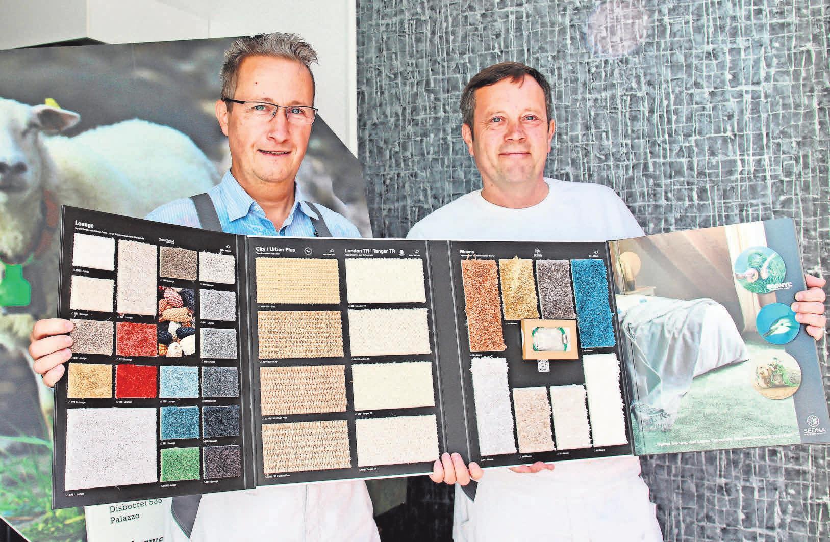 Die Malermeister Olaf (links) und Ernst Maikowski führen den Familienbetrieb in der Oststadt seit rund 20 Jahren.