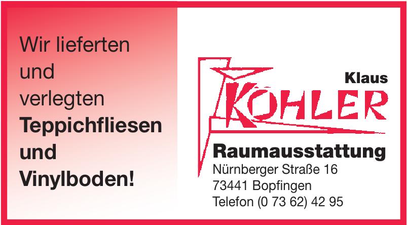 Klaus Kohler Raumstattung