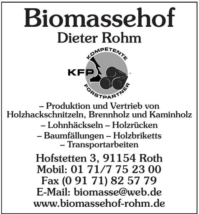 Biomassehof Dieter Rohm