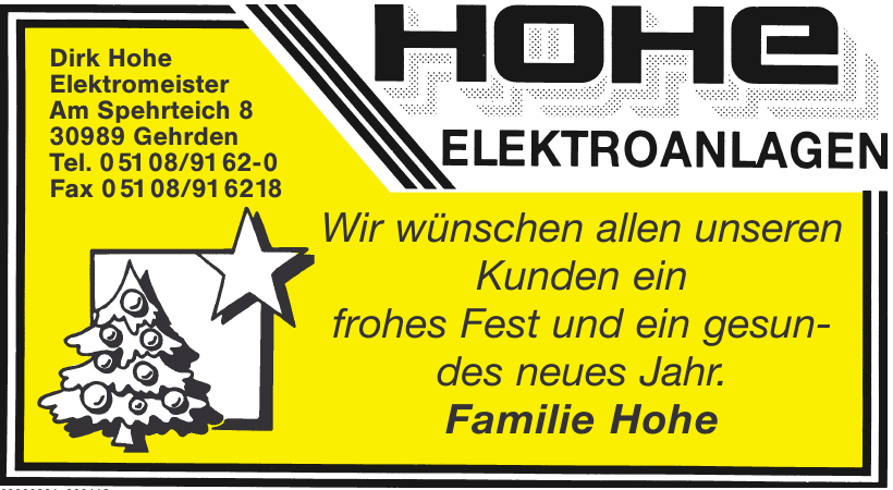 Dirk Hohe Elektromeister