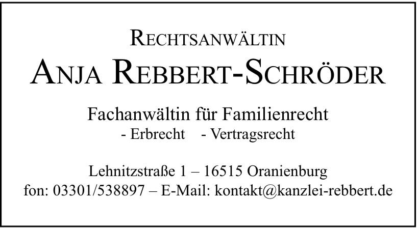 Rechtsanwältin Anja Rebbert-Schröder