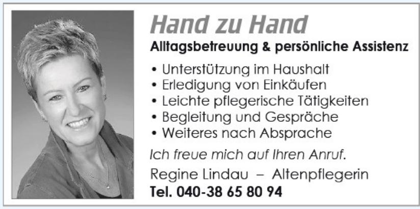 Regine Lindau - Altenpflegerin