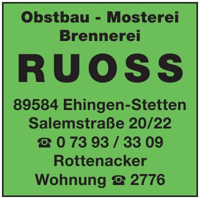 Obstbau - Mosterei Brennerei RUOSS