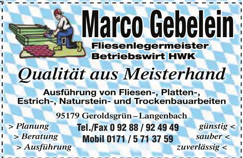 Marco Gebelein