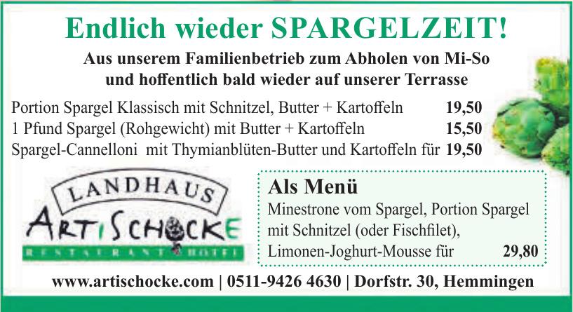 Landhause Artischocke Restaurant Hotel