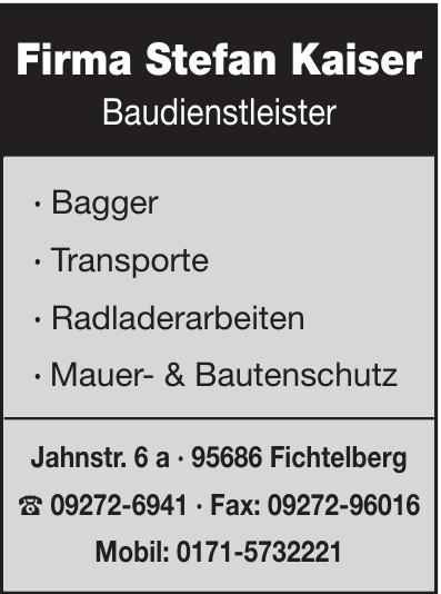 Firma Stefan Kaiser Baudienstleister