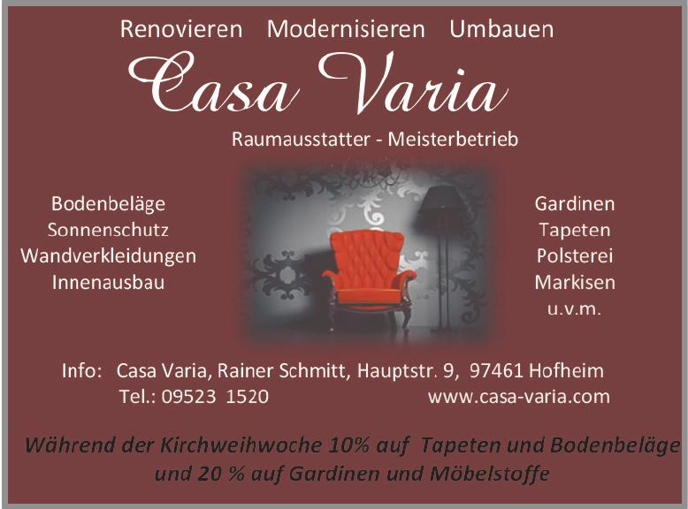 Casa Varia Raumausstatter - Meisterbetrieb