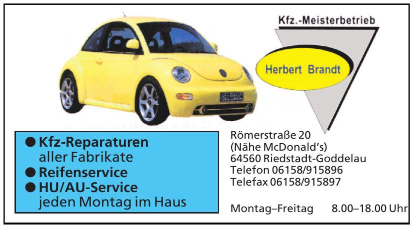 Herbert Brandt Ktz.-Meistetbetrieb
