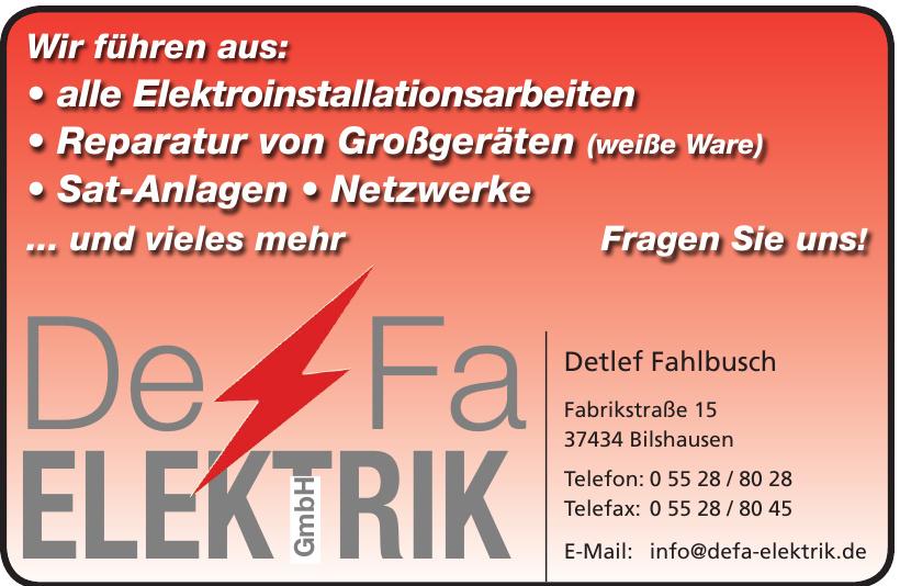 DeFa Elektrik GmbH