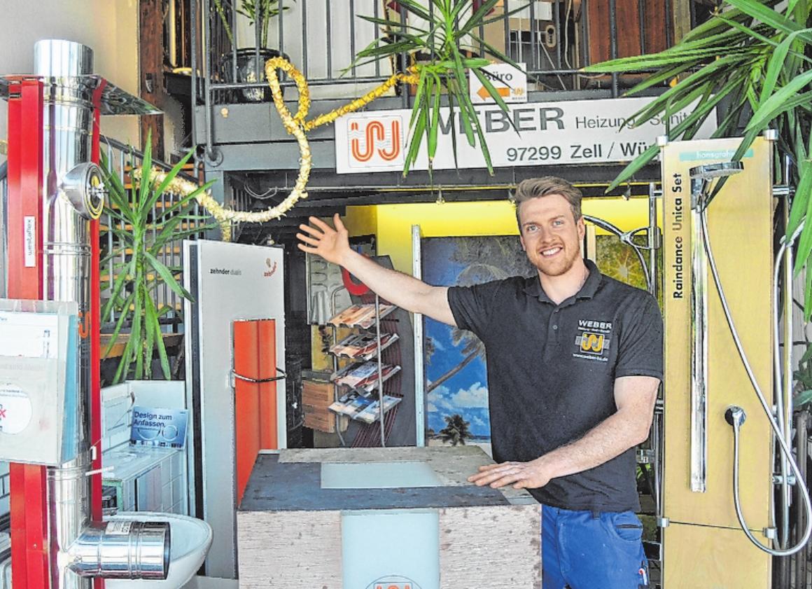 Juniorchef und Heizung-Sanitär-Meister Maximilian Weber und sein Team präsentieren bei der Hausmesse die breite Palette an modernster energiesparender Haustechnik. FOTOS: ZWIRNER
