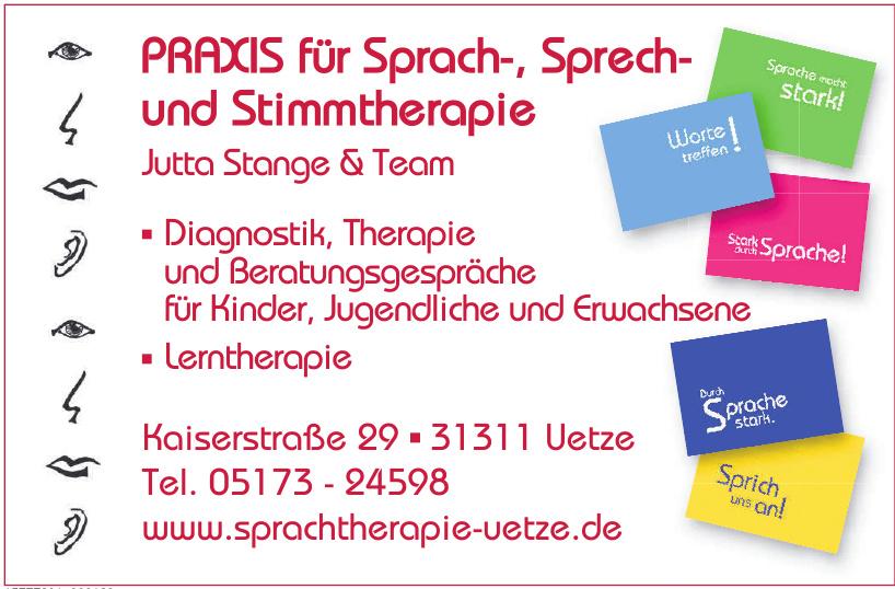 Praxis für Sprach-, Sprech- und Stimmtherapie Jutta Stange & Team