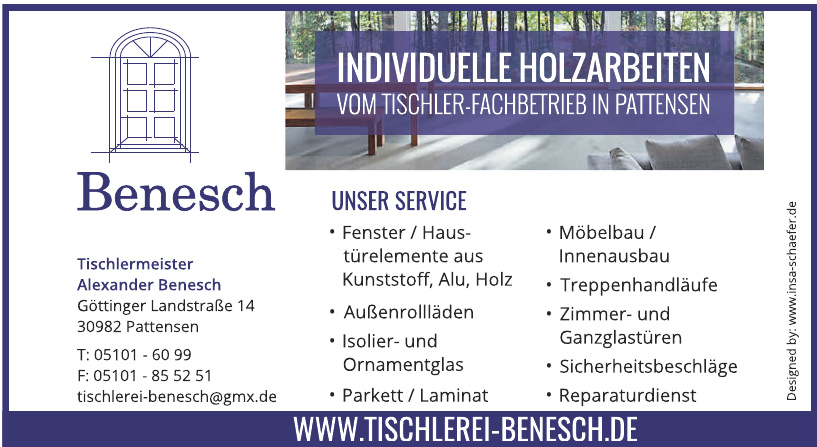 Tischlermeister Alexander Benesch