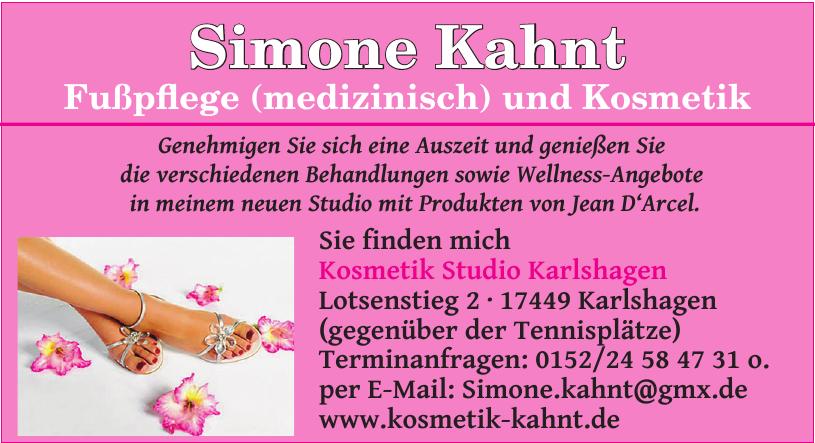 Simone Kahnt Fußpflege und Kosmetik