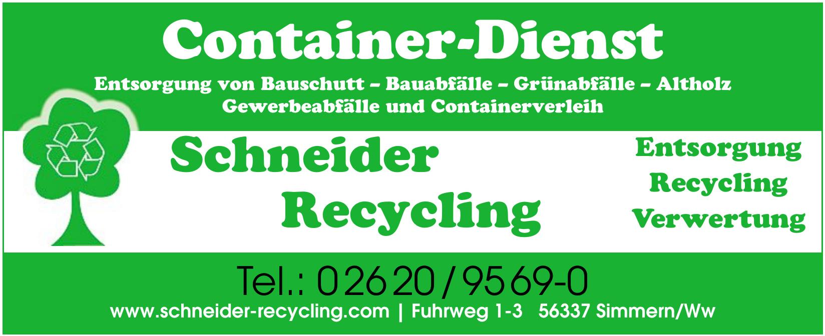 Schneider Recycling