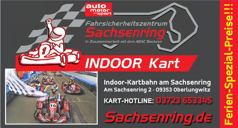 Indoor-Kartbahn am Sachsenring