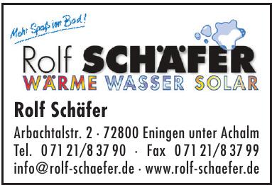 Rolf Schäfer