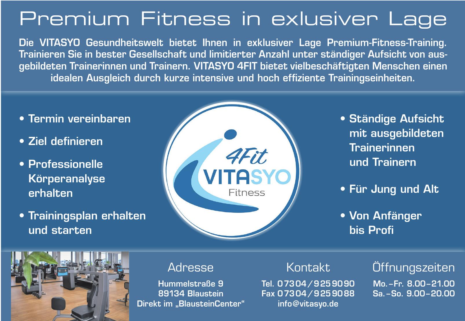 Premium Fitness Vitasyo