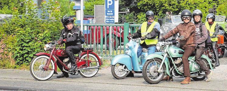 """Besonders in den Nachkriegsjahren und bis weit in die 1950er-Jahre hinein war das Motorrad das Fortbewegungsmittel des """"kleinen"""" Mannes."""