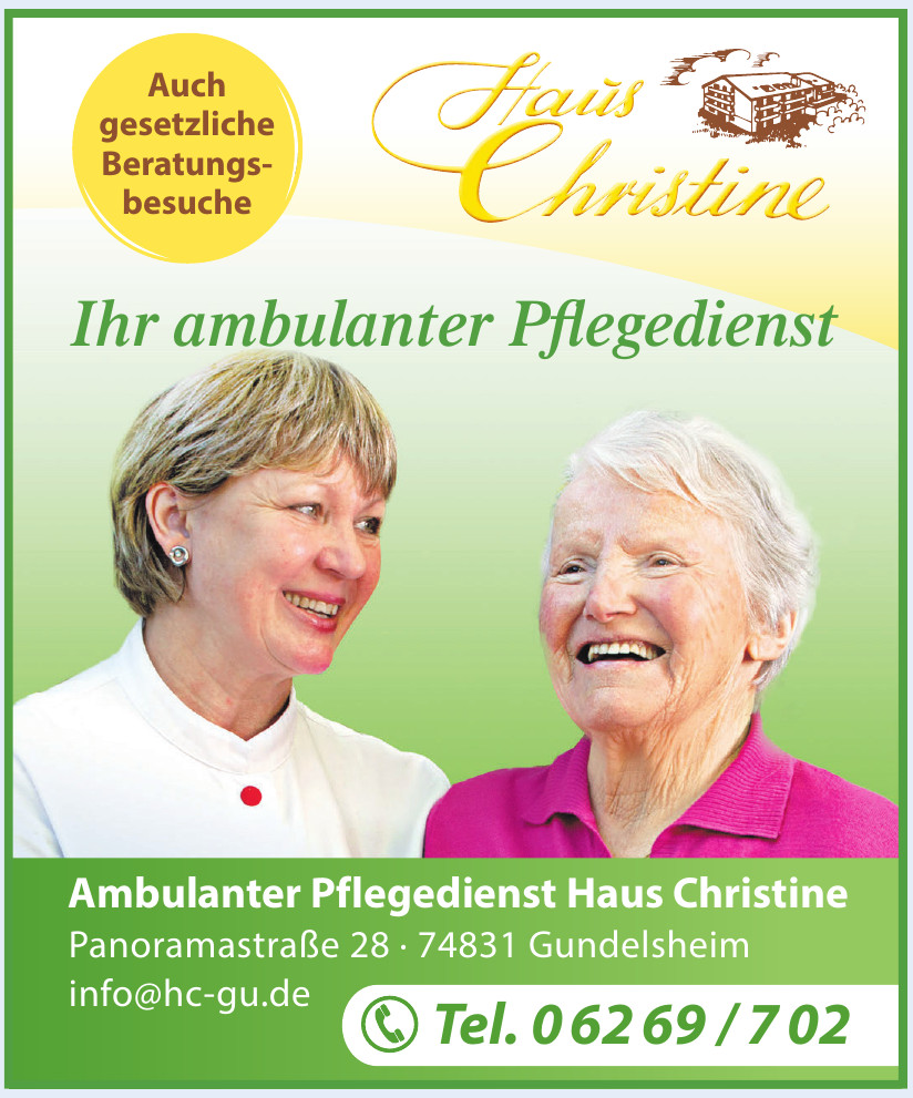 Ambulanter Pflegedienst Haus Christine