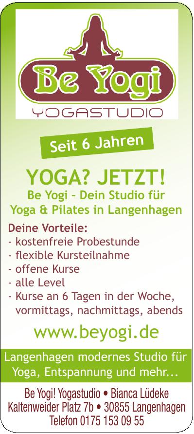 Be Yogi! Yogastudio - Bianca Lüdeke