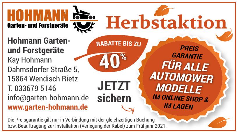 Hohmann Garten- und Forstgeräte Kay Hohmann