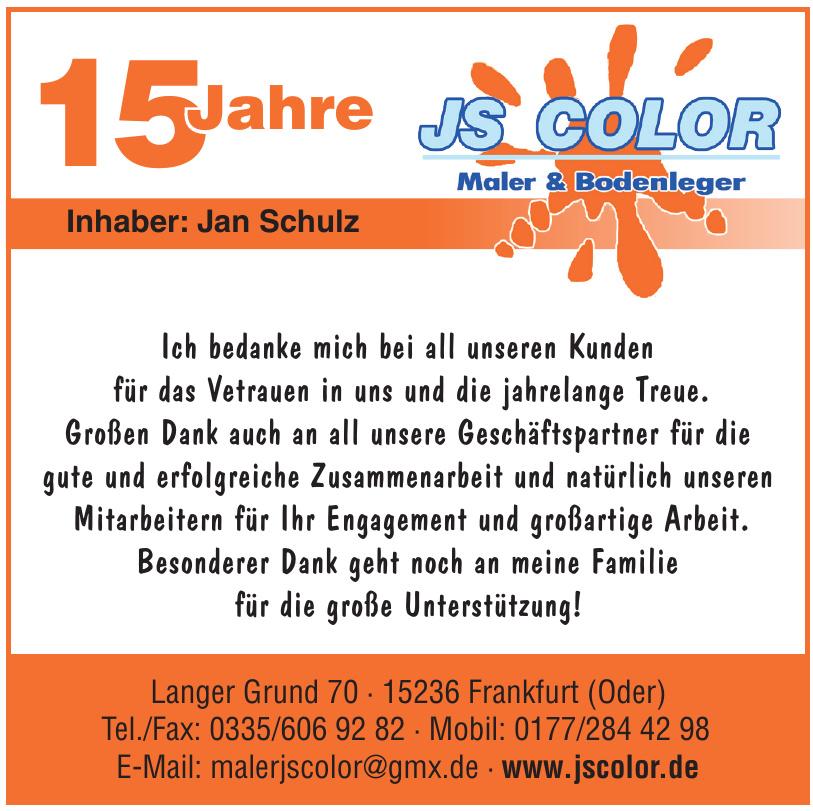 JS Color - Maler & Bodenleger
