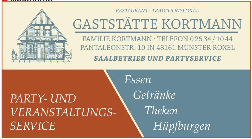 Restaurant - Traditionslokal Gaststätte Kortmann