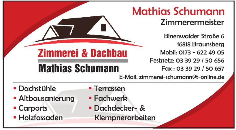 Mathias Schumann Zimmerermeister