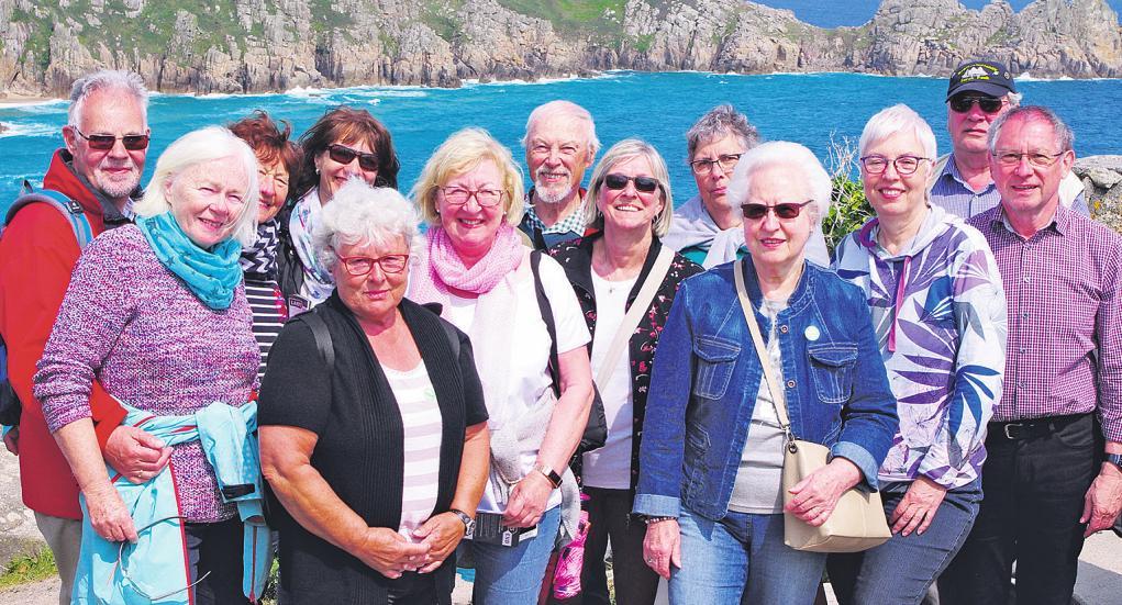 Die Reisegruppe an Cornwalls Küste