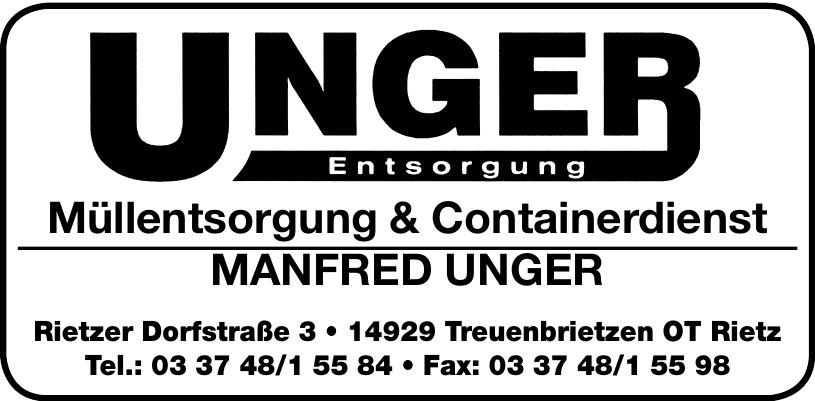 Müllentsorgung & Containerdienst Manfred Unger