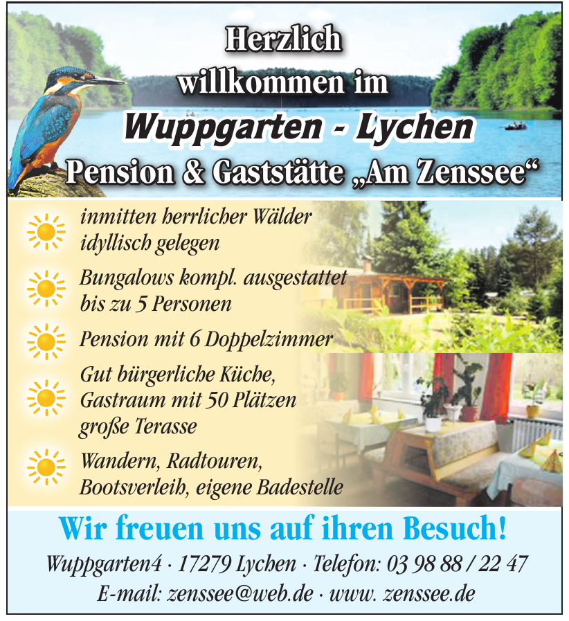 """Pension & Gaststätte """"Am Zenssee"""""""