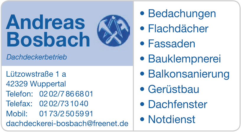 Andreas Bosbach Dachdeckerbetrieb