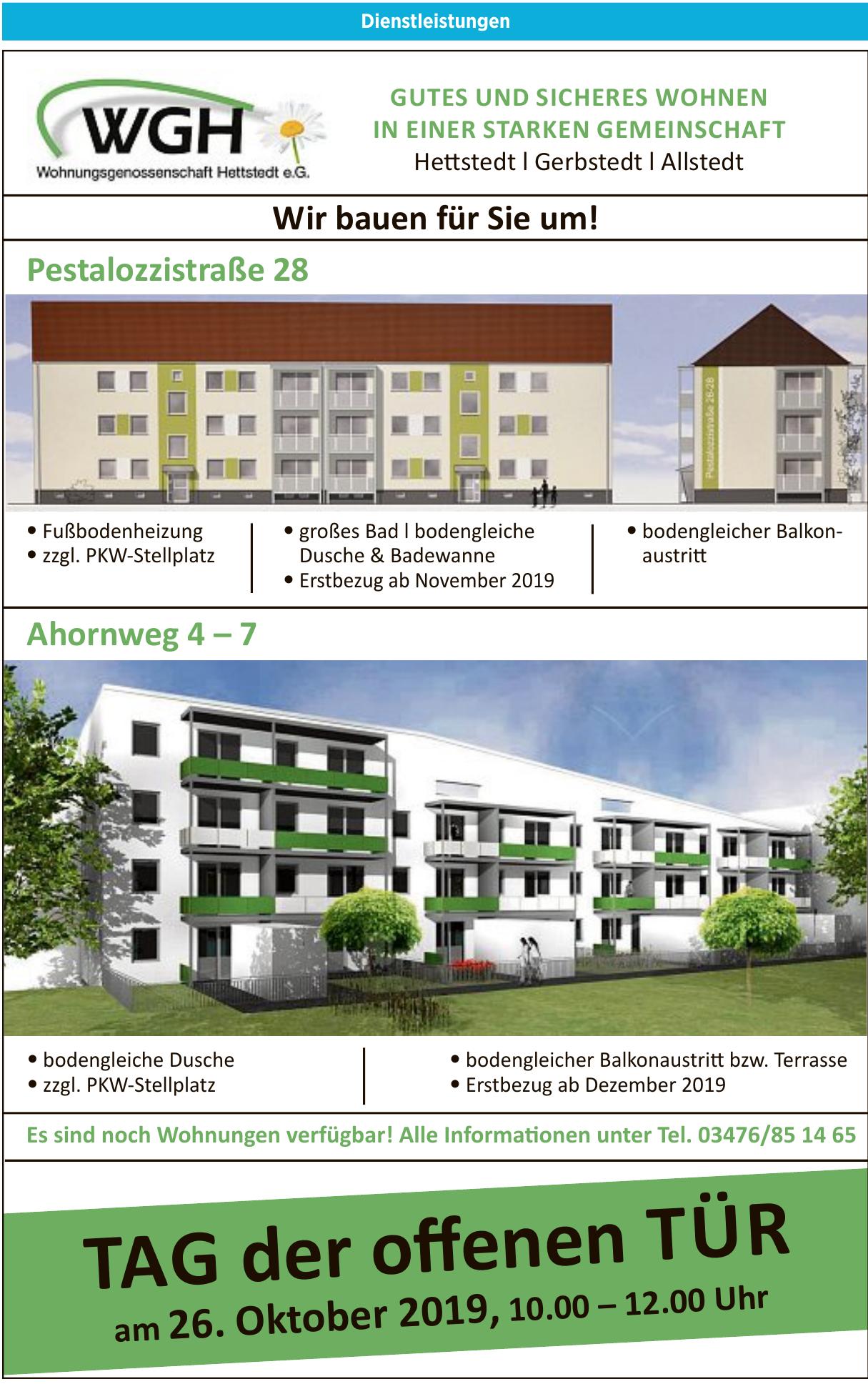 WGH Wohnungsgenossenschaft Hettstedt e.G