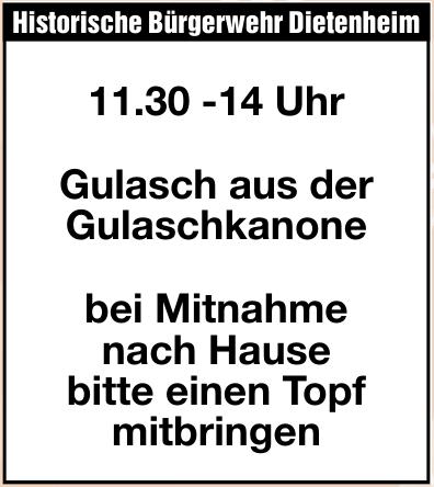 Historische Bürgerwehr Dietenheim