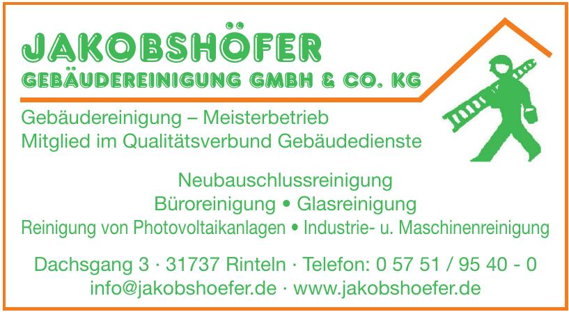 Jakobshöfer GebäudereiniGunG Gmbh & Co. kG