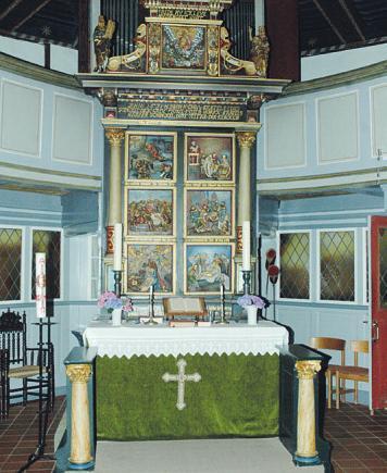 Der einflüglige Altar der Kirche in Seester ist der älteste Barockaltar im Kreis Pinneberg