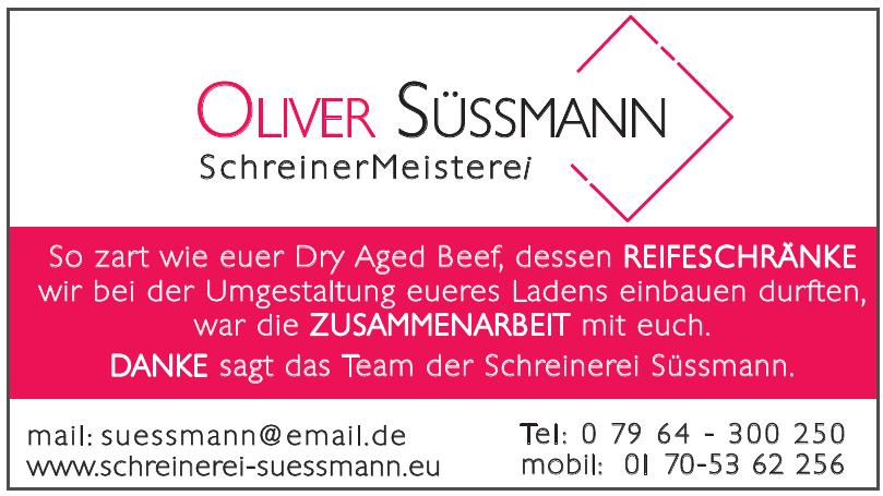 Oliver Süssmann SchreinerMeisteri