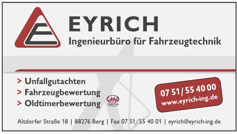 Eyrich Ingenieurbüro für Fahrzeugtechnik