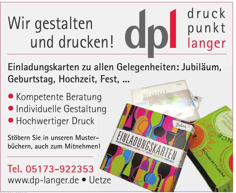 DPL - Druck - Punkt - Langer