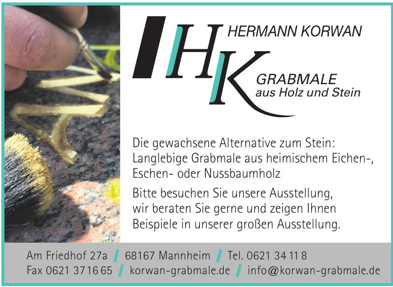 Hermann Korwan Grabmale